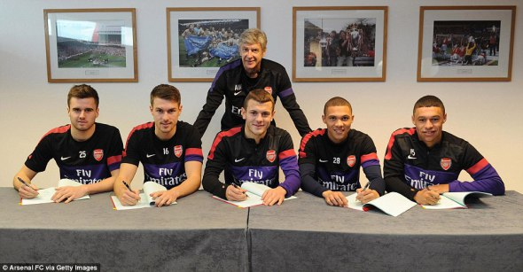 Our five, young Brits penning new contracts.