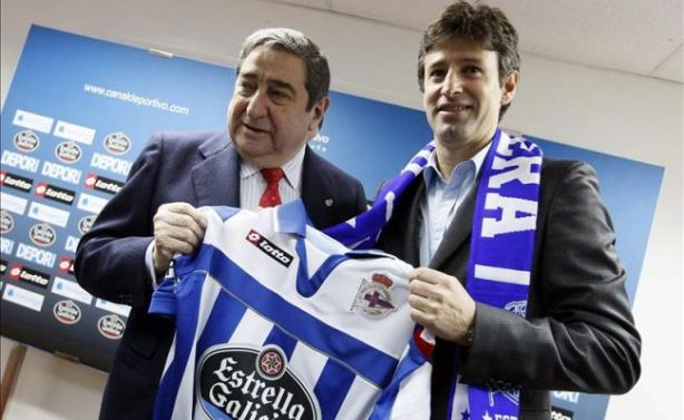 Domingos Paciencia (right) unveiled as new Depor manager.