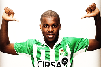 Joel Campbell when he joined Real Betis on loan.
