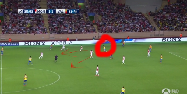 Covering for his full-back. Could do the
